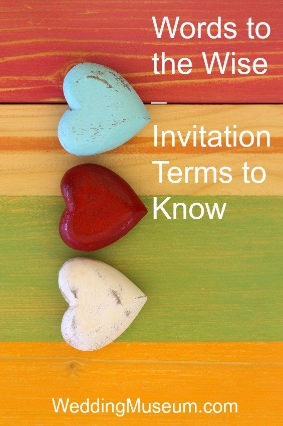 Words to the Wise – Invitation Terms to Know