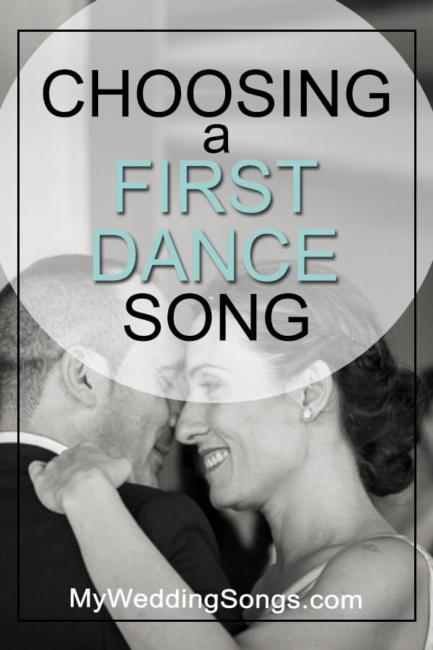 choosing a first dance song