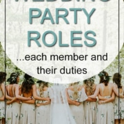 wedding party roles and duties