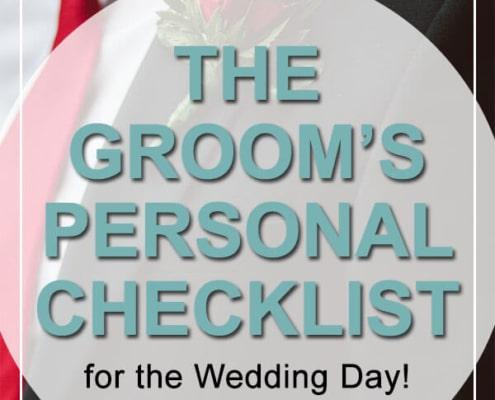 Groom's Personal Checklist