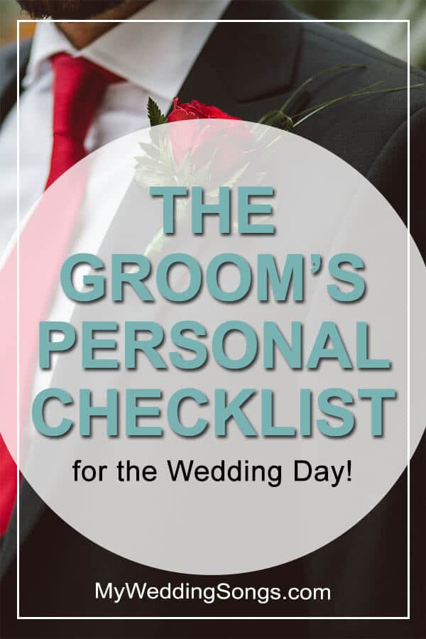 Groom's Personal Checklist