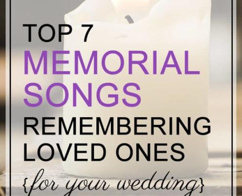 memorial songs for weddings