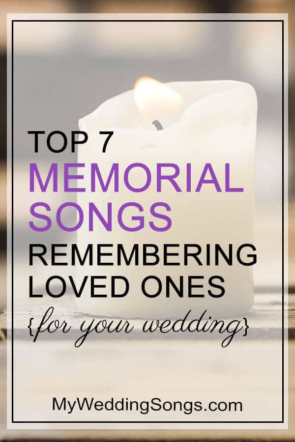 memorial songs for weddings