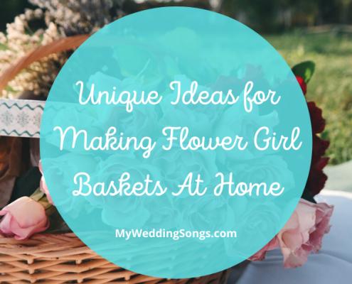 Making Flower Girl Baskets