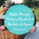 Making Flower Girl Baskets