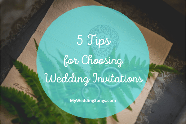 Choosing Wedding Invitations