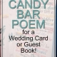 candy bar poem for wedding
