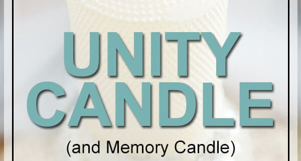 unity candle memorial ideas