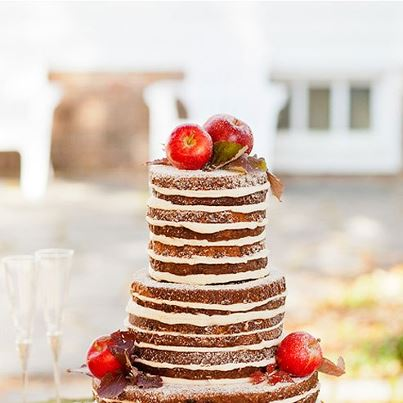 Frosting-less Wedding Cakes