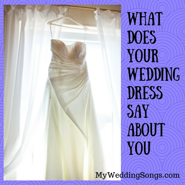 wedding dress say