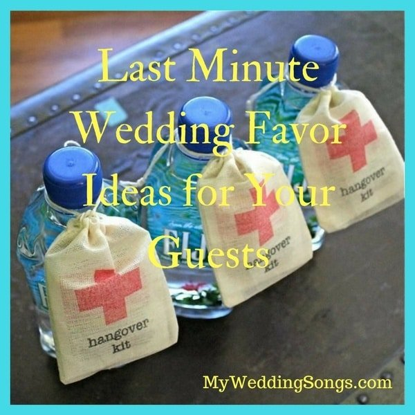 last minute wedding favor ideas