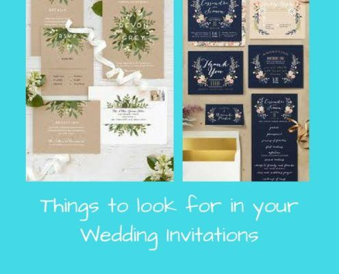 things to look for in wedding invitations