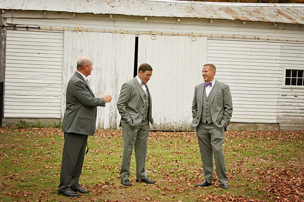 Real Amee Farm Fall Wedding – Ceremony at historic Stockbridge Meeting House