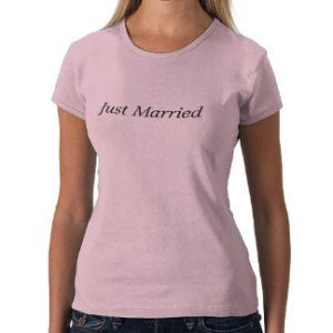 just married womens t shirt