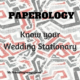 wedding paper stationary