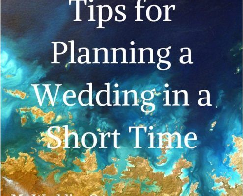 planning a wedding in short time