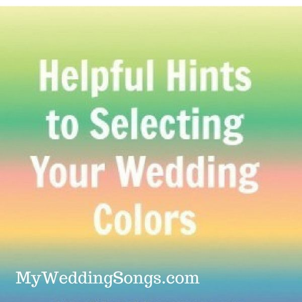 selecting your wedding colors