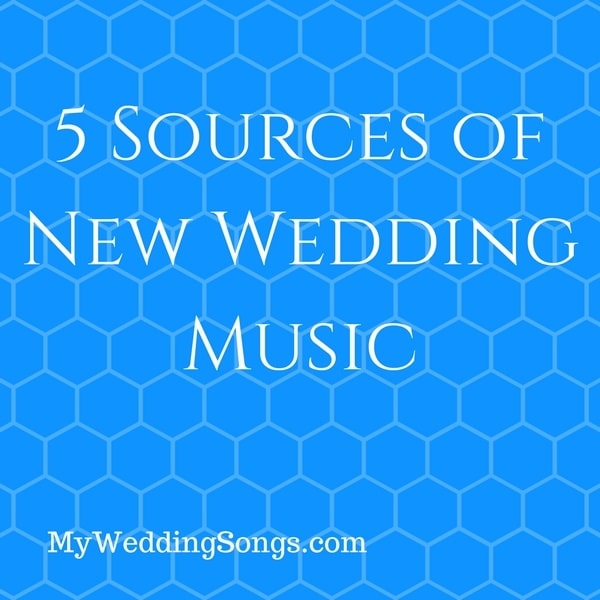 sources of new wedding music