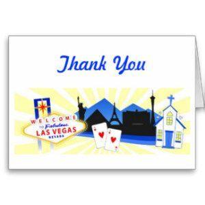 vegas wedding thank you cards