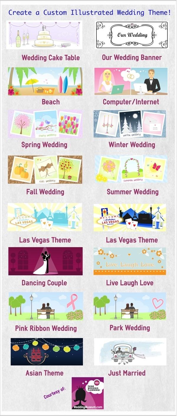 Custom Illustrated Wedding Themes
