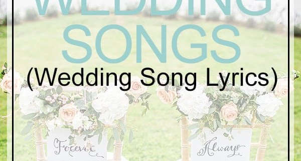 wedding song lyrics