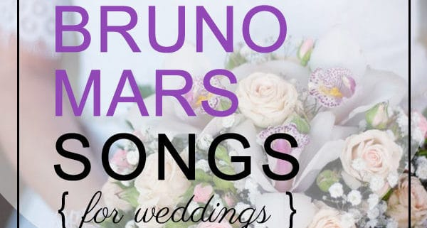 bruno mars love sons for weddings
