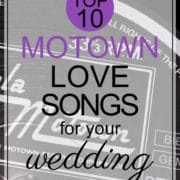 motown love songs for wedding