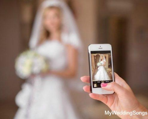 cell phone picture bride