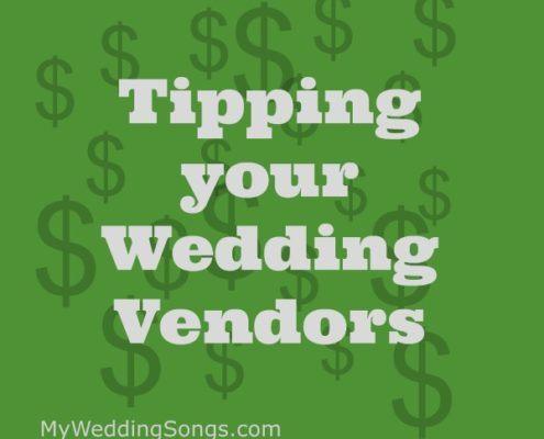 tipping wedding vendors