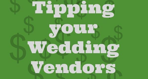 tipping wedding vendors