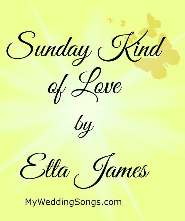 Etta James Sunday Kind Of Love