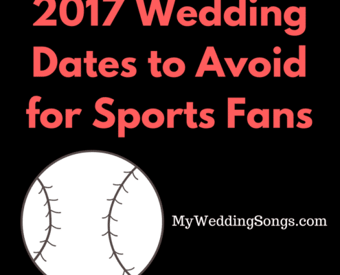 2017 Wedding Dates to Avoid for Sports Fans