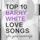 barry white love songs for weddings