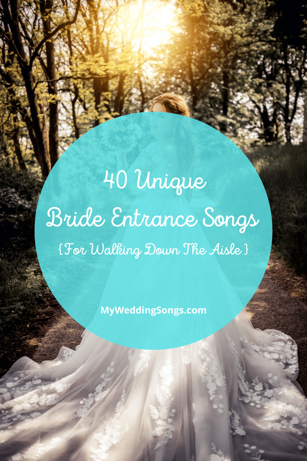 bride entrance songs for walking down the aisle