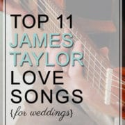 James Taylor Love Songs For Weddings To Play And Avoid