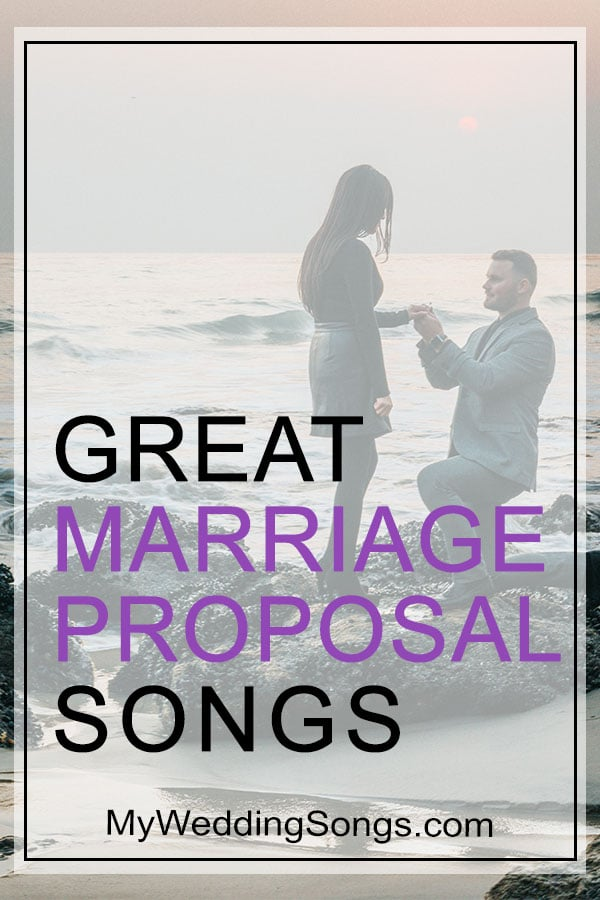 wedding proposal songs