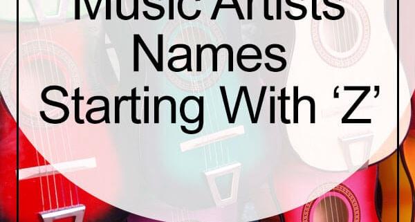 music artist names letter z