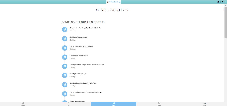 Create Wedding Playlist on the Go | My Wedding Songs App
