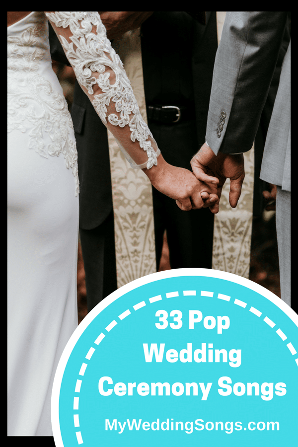 pop wedding ceremony songs
