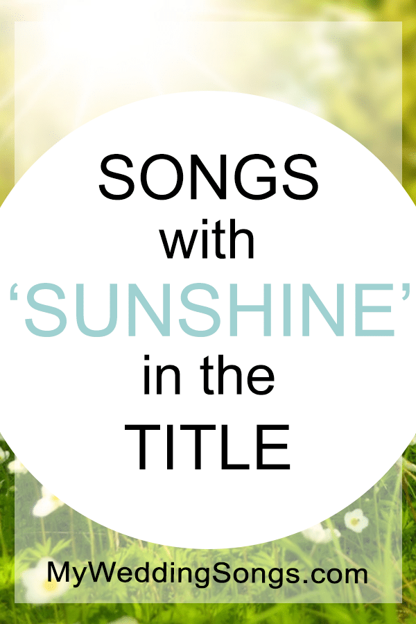 sunshine songs in title