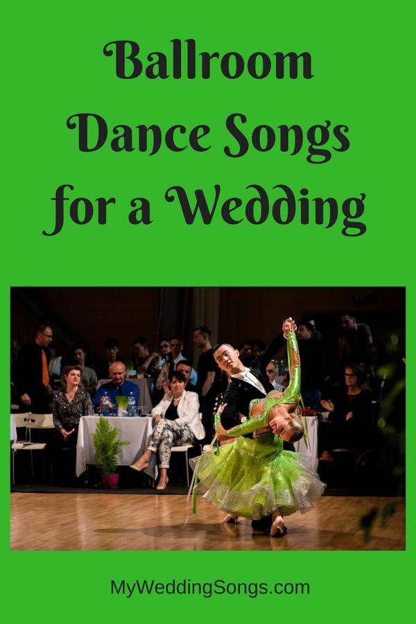 ballroom dance songs for weddings