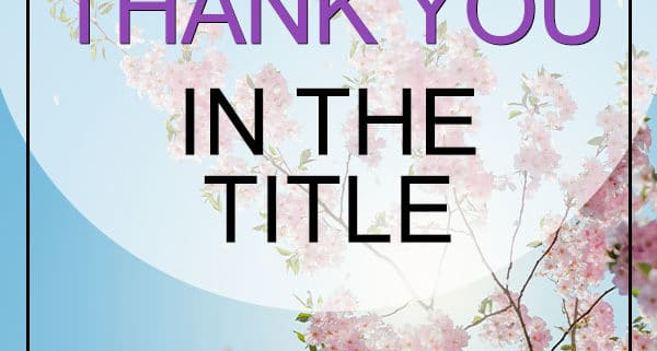 Songs with Thank you in the title