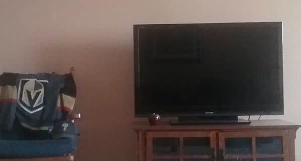 Working in front of the TV