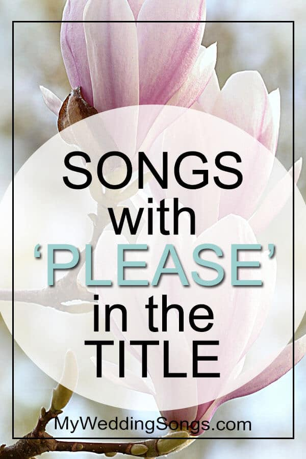 songs with please in the title