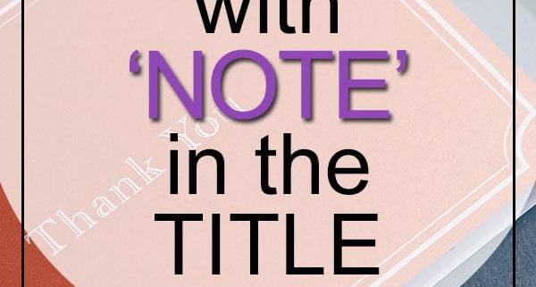 Best Note Songs in Title