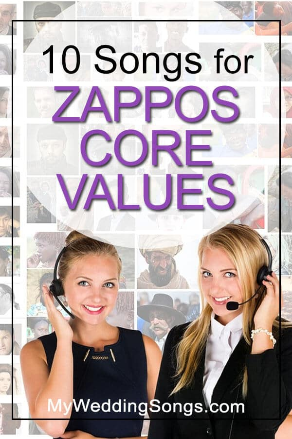 Zappos Core Values as Songs
