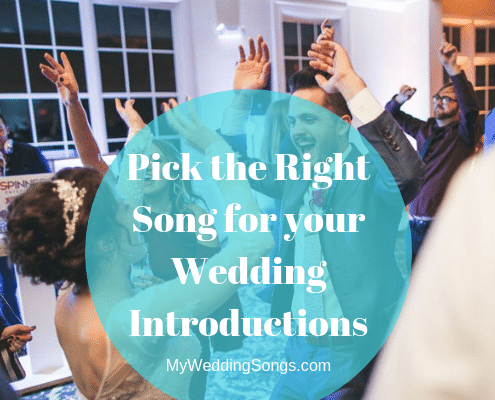 pick wedding introduction songs