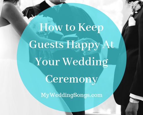 keeping guests happy at wedding ceremony