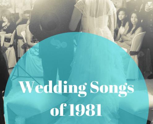 wedding songs list of 1981