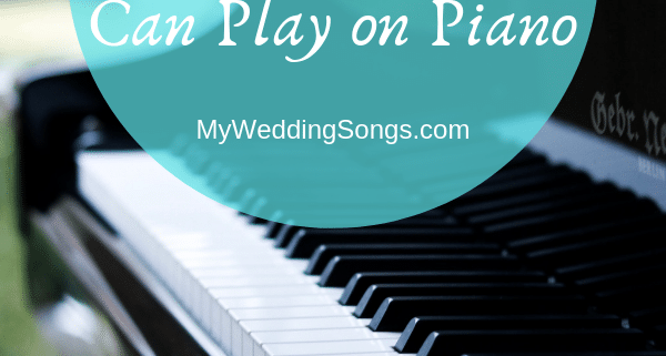 Wedding Processionals Play on Piano